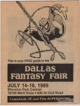 Dallas Fantasy Fair July 14-16, 1989 preview