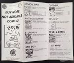 Not Available Comics catalog 1985 (brochure)