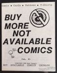 Not Available Comics catalog February 1985