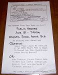 Thurston County public hearing poster
