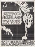 Flyer: Geko / Homeland / Ex-VoTo