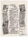 Spotted Zebra Press Catalog #1 (flyer)