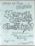 Marvel Comics Checklist
