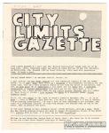 City Limits Gazette (Willis) October 1992, #I can't get the \