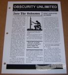 Obscurity Unlimited #01