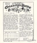 Comix World flyer (Collector's Guide to Newave Comix)